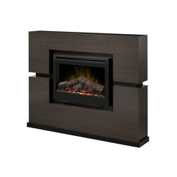 DIMPLEX GDS33-1310RG LINWOOD 65.50 INCH (WITH LOGS) FIREPLACE PACKAGE IN RIFT GREY