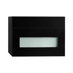 RONBOW ESSENTIALS 632018-3-B02 REBECCA 18 INCH WALL MOUNT DRAWER BRIDGE WITH WOOD FRONT IN BLACK