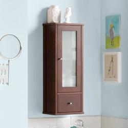 RONBOW 687032-F07 CLARK 32 INCH CONTEMPORARY BATHROOM WALL CABINET IN VINTAGE WALNUT