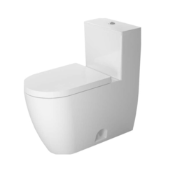 DURAVIT D4201900 ME BY STARCK 1.28 GPF ONE PIECE ELONGATED CHAIR HEIGHT TOILET WITH TOP FLUSH BUTTON - SEAT INCLUDED