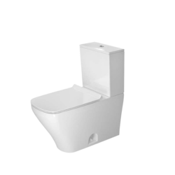 DURAVIT D4052000 DURASTYLE 0.92/1.32 GPF DUAL-FLUSH TWO-PIECE ELONGATED TOILET WITH TOP FLUSH BUTTON - LESS SEAT