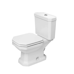 DURAVIT D1002200 1930 SERIES 1.28 GPF TWO-PIECE ELONGATED TOILET WITH TOP FLUSH BUTTON - LESS SEAT