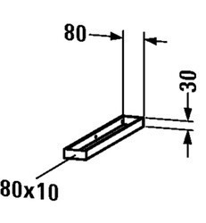 DURAVIT UV996000000 3 1/8 X 21 5/8 INCH TOWEL RAIL FOR INSTALLATION ON THE SIDE OF CONSOLE 21 5/8 INCH IN DEPTH