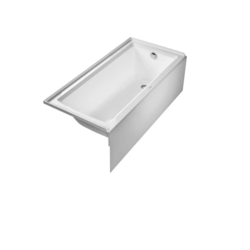 DURAVIT 700407000000090 ARCHITEC 66 X 32 INCH RECTANGLE WITH INTEGRATED PANEL AND FLANGE BATHTUB WITH 19 1/4 INCH PANEL