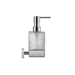 DURAVIT 0099541000 KARREE 2 3/4 W X 7-1/8 H INCH WALL MOUNTED SOAP DISPENSER WITH FROSTED GLASS IN CHROME