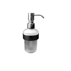 DURAVIT 0099161000 D-CODE 2 3/4 W X 8-5/8 H INCH WALL-MOUNTED FROSTED GLASS SOAP DISPENSER IN CHROME