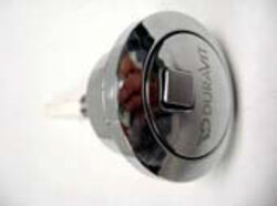 DURAVIT 0074601000 PUSH BUTTON WITH DUAL-FLUSH IN CHROME