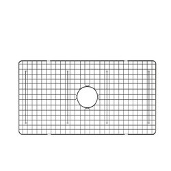 RUVATI RVA621009 27 X 17 INCH STAINLESS STEEL BOTTOM RINSE GRID FOR RVL2100WH FIRECLAY KITCHEN SINK