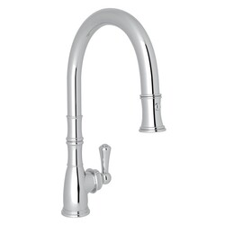 ROHL U.4744-2 PERRIN & ROWE GEORGIAN ERA TRADITIONAL PULL-DOWN SINGLE HOLE FAUCET WITH METAL LEVER