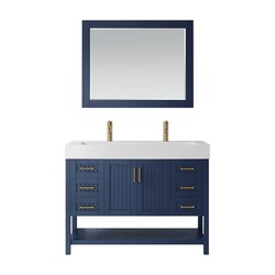 VINNOVA 755048-RB-WH PAVIA 48 INCH SINGLE VANITY IN ROYALBLUE WITH ACRYLIC UNDERMOUNT SINK WITH MIRROR