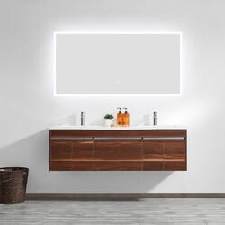 VINNOVA 803048R-LED-AC 48 INCH RECTANGLE ILLUMINATED BATHROOM VANITY WALL MIRROR