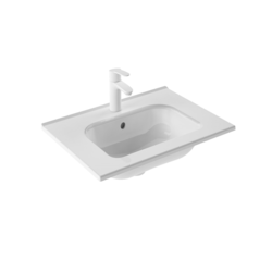 ROYO 123341 SLIM 24 L X 18 W INCH RECTANGLE SINGLE BOWL WASHBASIN IN GLOSS WHITE
