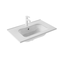 ROYO 123342 SLIM 28 L X 18 W INCH RECTANGLE SINGLE BOWL WASHBASIN IN GLOSS WHITE