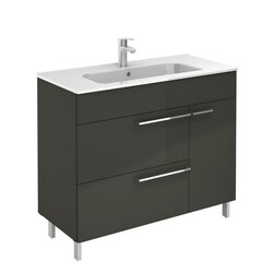 ROYO 126115 CONFORT 40 INCH VANITY IN ANTHRACITE WITH 2 DRAWERS