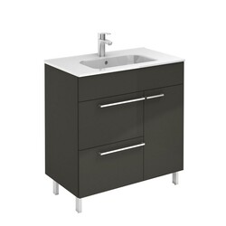 ROYO 126117 CONFORT 32 INCH VANITY IN ANTHRACITE WITH 2 DRAWERS