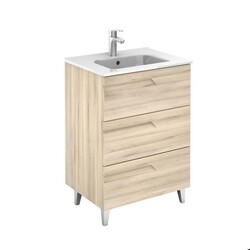 ROYO 125998 VITALE 24 INCH VANITY IN NATURE BEIGE WITH 3 DRAWERS