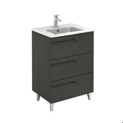 ROYO 125999 VITALE 24 INCH VANITY IN NATURE GREY WITH 3 DRAWERS