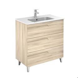 ROYO 126001 VITALE 32 INCH VANITY IN NATURE BEIGE WITH 3 DRAWERS