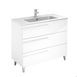ROYO 126003 VITALE 40 INCH VANITY IN WHITE WITH 3 DRAWERS