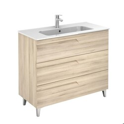 ROYO 126004 VITALE 40 INCH VANITY IN NATURE BEIGE WITH 3 DRAWERS