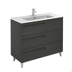 ROYO 126005 VITALE 40 INCH VANITY IN NATURE GREY WITH 3 DRAWERS