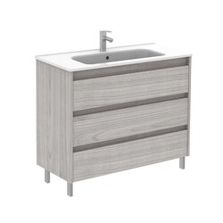 ROYO 126101 SANSA 40 INCH VANITY IN SANDY GREY WITH 3 DRAWERS
