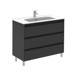 ROYO 126102 SANSA 40 INCH VANITY IN ANTHRACITE WITH 3 DRAWERS