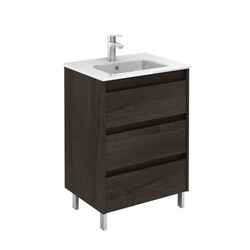 ROYO 125457 SANSA 24 INCH VANITY IN WENGE WITH 3 DRAWERS
