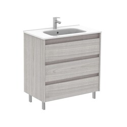 ROYO 125481 SANSA 32 INCH VANITY IN SANDY GREY WITH 3 DRAWERS