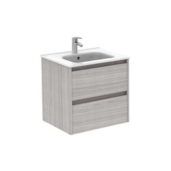 ROYO 125928 SANSA 24 INCH VANITY IN SANDY GREY WITH 2 DRAWERS