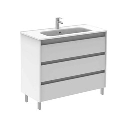 ROYO 125932 SANSA 40 INCH VANITY IN WHITE WITH 3 DRAWERS