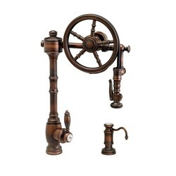 WATERSTONE FAUCETS 5100-2 TRADITIONAL WHEEL PULL-DOWN FAUCET - 2 PIECE SUITE
