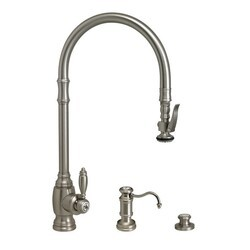 WATERSTONE FAUCETS 5500-3 TRADITIONAL EXTENDED REACH PLP PULL-DOWN FAUCET - 3 PIECE SUITE