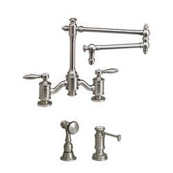 WATERSTONE FAUCETS 6100-18-2 TOWSON BRIDGE FAUCET WITH 18 INCH ARTICULATED SPOUT - 2 PIECE SUITE