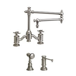 WATERSTONE FAUCETS 6150-18-2 TOWSON BRIDGE FAUCET WITH 18 INCH ARTICULATED SPOUT - 2 PIECE SUITE
