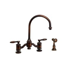 WATERSTONE FAUCETS 6300-1 HAMPTON BRIDGE FAUCET WITH LEVER HANDLES WITH SIDE SPRAY
