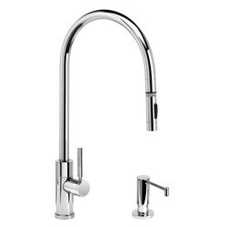 WATERSTONE FAUCETS 9350-2 MODERN EXTENDED REACH PLP PULL-DOWN FAUCET - 2 PIECE SUITE