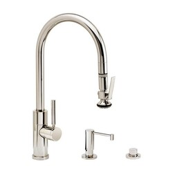 WATERSTONE FAUCETS 9850-3 MODERN PLP PULL-DOWN FAUCET - 3 PIECE SUITE