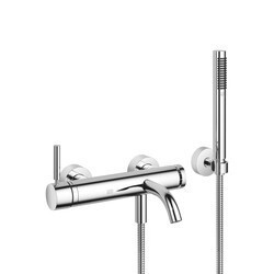 DORNBRACHT 33233660 META THREE HOLES WALL MOUNT TUB FILLER WITH HAND SHOWER AND LEVER HANDLE