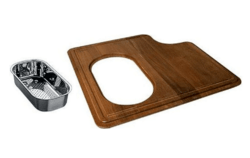 FRANKE PS19-45SP PROFESSIONAL SERIES SOLID WOOD CUTTING BOARD WITH COLANDER