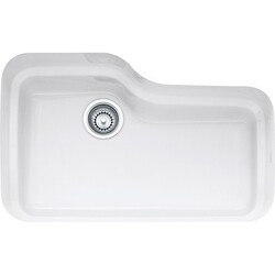 FRANKE ORK110WH ORCA 30 INCH SERIES UNDERMOUNT SINGLE BOWL FIRECLAY SINK IN WHITE