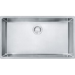 FRANKE CUX11030 CUBE 31-1/2 INCH UNDERMOUNT SINGLE BOWL STAINLESS STEEL KITCHEN SINK
