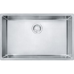 FRANKE CUX11027 CUBE 28-1/2 INCH UNDERMOUNT SINGLE BOWL STAINLESS STEEL KITCHEN SINK