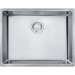 FRANKE CUX11021 CUBE 22-3/4 INCH UNDERMOUNT SINGLE BOWL STAINLESS STEEL KITCHEN SINK