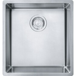FRANKE CUX11015 CUBE 16-1/2 INCH UNDERMOUNT SINGLE BOWL STAINLESS STEEL KITCHEN SINK