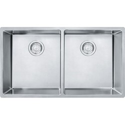 FRANKE CUX120 CUBE 31-1/2 INCH UNDERMOUNT DOUBLE BOWL STAINLESS STEEL KITCHEN SINK
