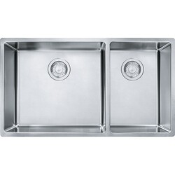 FRANKE CUX160 CUBE 31-1/2 INCH UNDERMOUNT DOUBLE BOWL STAINLESS STEEL KITCHEN SINK