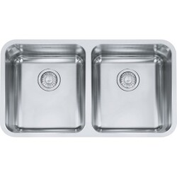 FRANKE GDX12031 GRANDE 33 INCH STAINLESS DOUBLE BOWL KITCHEN SINK