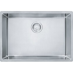 FRANKE CUX11025 CUBE 26-5/8 INCH UNDERMOUNT SINGLE BOWL STAINLESS STEEL KITCHEN SINK