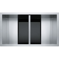 FRANKE CLV120-33 CRYSTAL 32-1/2 INCH UNDERMOUNT DOUBLE BOWL STAINLESS STEEL KITCHEN SINK